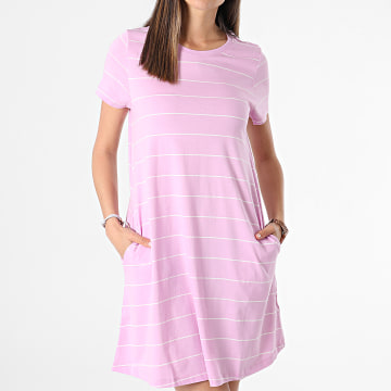 Only - Robe Tee Shirt Femme May Life Rose Ecru