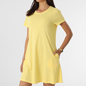 Only - Robe Tee Shirt Femme May Life Jaune