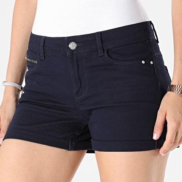 Only - Short Jean Skinny Claudia Femme Bleu Marine