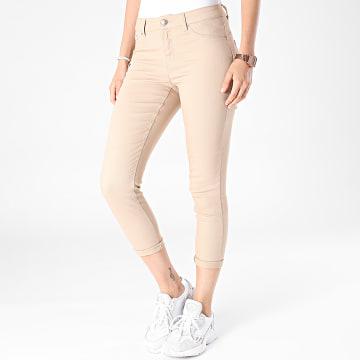 Vero Moda - Jean Slim Femme Hot Seven Beige