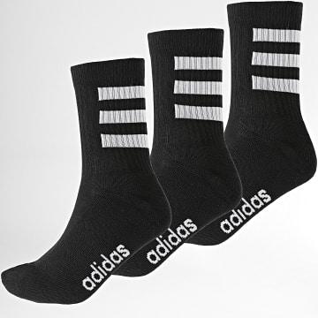 Adidas Performance - Lot De 3 Paires De Chaussettes 3 Stripes GE6163 Noir