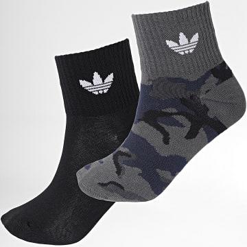 Adidas Originals - Lot De 2 Paires De Chaussettes Mid Ankle H32345 Noir Camouflage