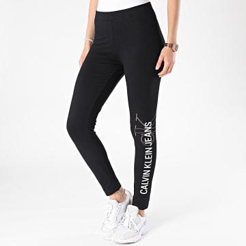 Calvin Klein - Leggings Femme Vertical Institutional Logo 6239 Noir
