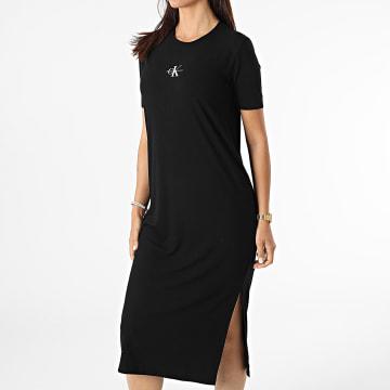 Calvin Klein - Robe Femme Rib Maxi 6273 Noir