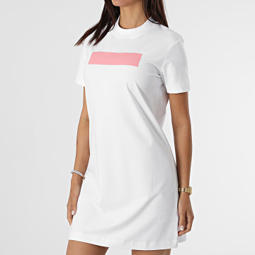 Calvin Klein - Robe Tee Shirt Femme Hero Logo 6461 Blanc