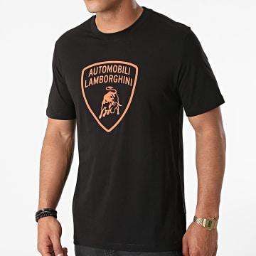 Lamborghini - Tee Shirt Jersey Picasso B3XVB7TL Noir Orange Fluo