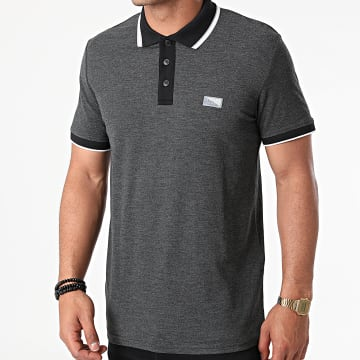 Jack And Jones - Polo Manches Courtes Charming Gris Anthracite Chiné