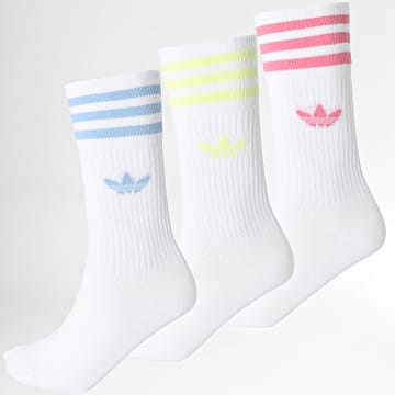 Adidas Originals - Lot De 3 Paires De ChaussetesSolid Crew H32329 Blanc