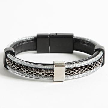 Black Needle - Bracelet BBN-473 Noir Gris