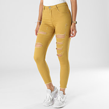 Girls Outfit - Jean Skinny Femme C9051 Moutarde