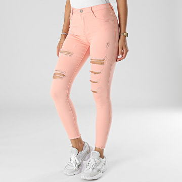 Girls Outfit - Jean Skinny Femme C9051 Rose Saumon