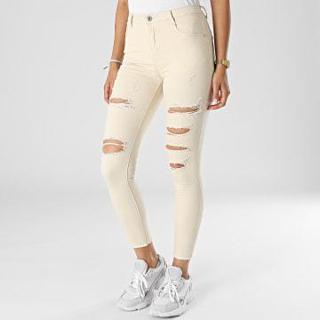 Girls Outfit - Jean Skinny Femme C9051 Beige