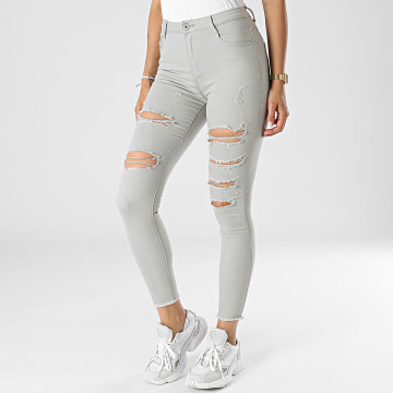 Girls Outfit - Jean Skinny Femme C9051 Gris