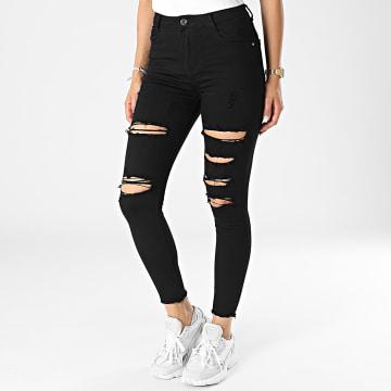 Girls Outfit - Jean Skinny Femme C9051 Noir