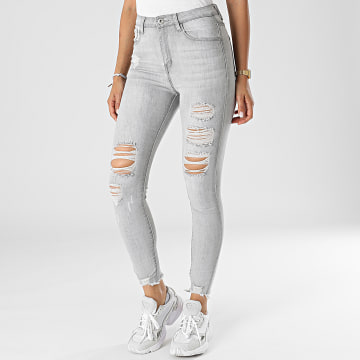 Girls Outfit - Jean Skinny Femme B873 Gris
