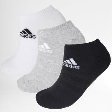 Adidas Performance - Lot De 3 Paires De Chaussettes Cush Low DZ9383 Noir Blanc Gris Chiné