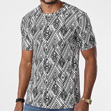 Frilivin - Tee Shirt 15255 Blanc Noir