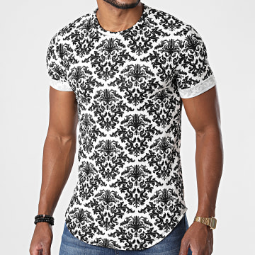 Frilivin - Tee Shirt Oversize Renaissance X1197 Blanc Noir
