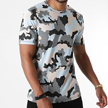 Frilivin - Tee Shirt Camouflage 15251 Bleu Beige