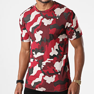 Frilivin - Tee Shirt Camouflage 15251 Rouge Beige