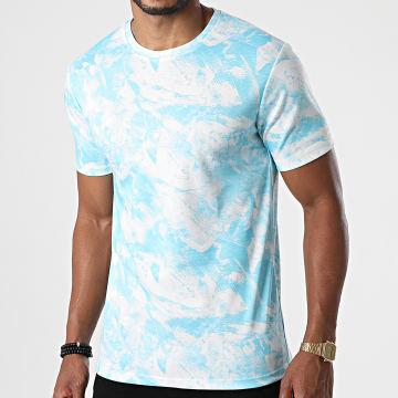 Frilivin - Tee Shirt 15232 Blanc Bleu Clair