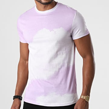 Frilivin - Tee Shirt 93416 Violet Blanc