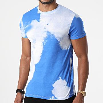 Frilivin - Tee Shirt 93416 Bleu Roi Blanc