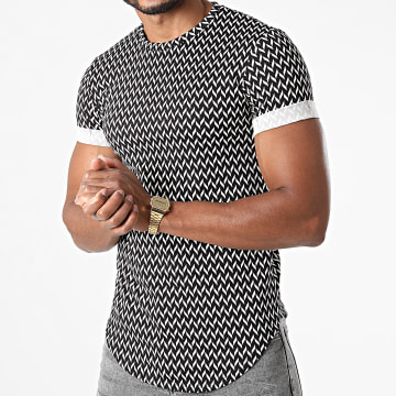 Frilivin - Tee Shirt Oversize Y1120 Noir Blanc
