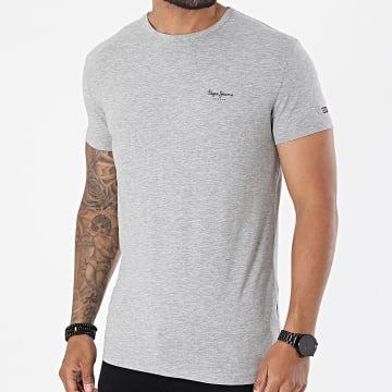 Pepe Jeans - Tee Shirt Original Basic Gris Chiné