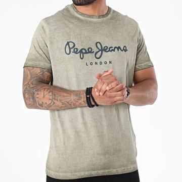 Pepe Jeans - Tee Shirt West Sir New Vert Kaki