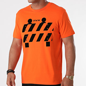 13 Block - Tee Shirt TVX Orange Noir