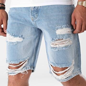 2Y Premium - Short Jean K6195 Bleu Denim