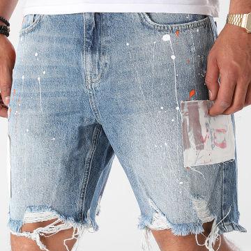 2Y Premium - Short Jean AT8115 Bleu Denim