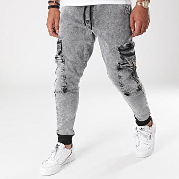 2Y Premium - Jogger Pant Jean B6098 Gris Chiné