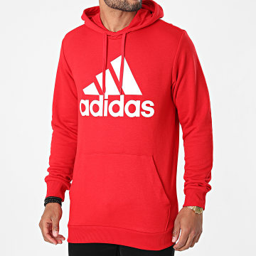 Adidas Performance - Sweat Capuche Big Logo GV0249 Rouge