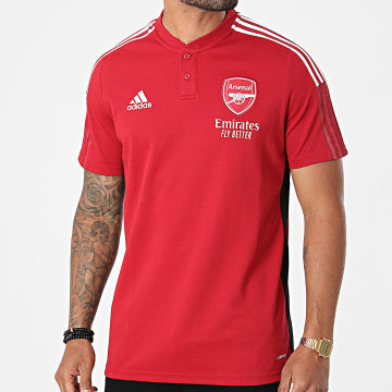 Adidas Performance - Polo Manches Courtes A Bandes Arsenal FC GR4170 Rouge