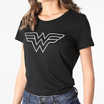DC Comics - Tee Shirt Femme Big Logo Noir Blanc