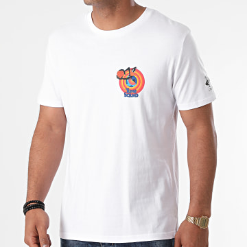 Looney Tunes - Tee Shirt Space Jam Daffy Blanc