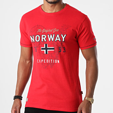 Geographical Norway - Tee Shirt Juitre Rouge