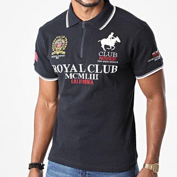 Geographical Norway - Polo Manches Courtes Keratine Bleu Marine