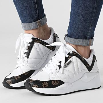 Guess - Baskets Femme FL7TRSFAL12 White Brown
