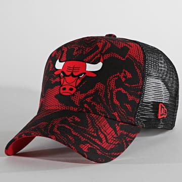 New Era - Casquette Trucker Seasonal Camo 60137698 Chicago Bulls Noir Rouge