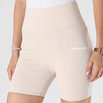 Sixth June - Short Jogging Femme W32947KST Beige