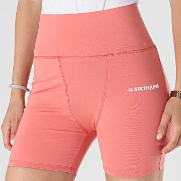 Sixth June - Short Jogging Femme W32947KST Orange Clair