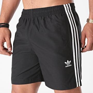 Adidas Originals - Short De Bain A Bandes H06701 Noir