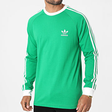 Adidas Originals - Tee Shirt Manches Longues A Bandes 3 Stripes H37778 Vert