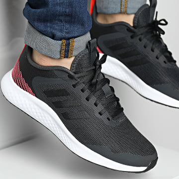 Adidas Performance - Baskets Fluidstreet GZ2719 Carbon Core Black Solar Red