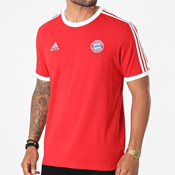 Adidas Performance - Tee Shirt De Sport A Bandes FC Bayern GR0687 Rouge