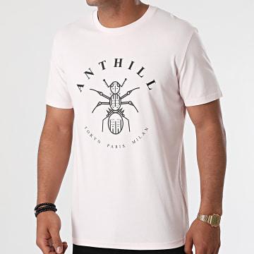 Anthill - Tee Shirt Logo Rose Pastel