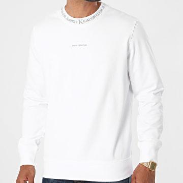 Calvin Klein - Sweat Crewneck Logo Jacquard 7059 Blanc